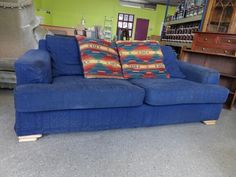 Three seater sofa with removable cover, few marks----------------- £55 (pc842)