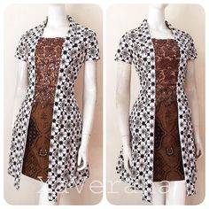 Y bg tu nnti , nnnnnnnnnnm) 88774 Model Dress Batik, Batik Dress, Simple Dresses, Beautiful Dresses, Batik Kebaya, Kebaya Hijab, Model Kebaya, Dress Brokat, Blouse Batik