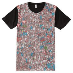 Where's Waldo Land of Woofs All-Over-Print T-Shirt - tap, personalize, buy right now! S Shirt, Shirt Style, Wheres Waldo, Peeling Paint, Stylish Shirts, Summer Outfits, Summer Clothes, Your Style, Custom Design