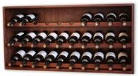 "Mahogany colour ""individual"" wine racks"