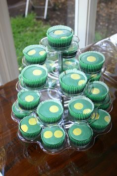 OK so this one is a cheat and not from this party but it almost should be. It is from a Charlotte's party 2 year earlier. Dorothy the Dinosaur cupcakes.