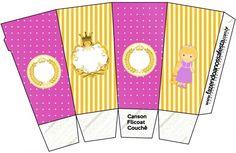 Caixa Pipoca Princesa Loira Canson, Princess Rapunzel, Prince Charming, Birthdays, Cricut, Kids Rugs, Symbols, Printables, Disney