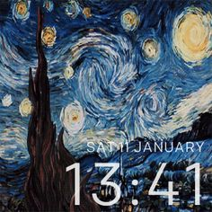Starry Night is an animated Fitbit Watchface that represents the painting made by Vincent van Gogh. The Starry Night is an oil on canvas by the Dutch post-impressionist painter Vincent van Gogh.