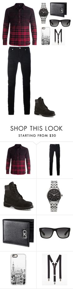 """""""Men outfit"""" by washingtonjd on Polyvore featuring DC Shoes, Diesel Black Gold, Timberland, Citizen, Ray-Ban, Casetify, Express, men's fashion and menswear Women, Men and Kids Outfit Ideas on our website at 7ootd.com #ootd #7ootd"""