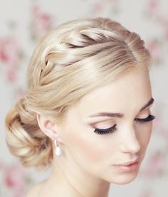 Also love the make-up… Classy and Timeless Wedding Hairstyles from Elstile