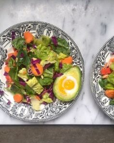 Avocado Baked Egg and Salad / Mom's Kitchen Handbook