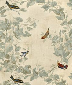 Fabric Sale 3 or 4 Yards of Heritage House Windsong in Parchment-Home Decor Drapery Fabric Cotton Blend Fabric Fabric Birds, Red Fabric, Floral Fabric, Peacock Fabric, Drapery Fabric, Fabric Decor, Chair Fabric, Chintz Fabric, Upholstery Fabrics