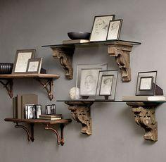 21 Ideas Living Room Furniture Placement Ideas Floating Shelves For 2019 Glass Shelves, Wood Shelves, Floating Shelves, Display Shelves, Hallway Shelving, Style At Home, Furniture Placement, Wood Bedroom, Diy Bedroom