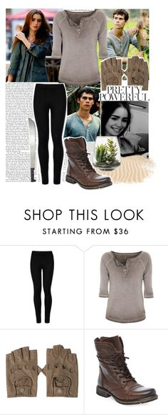 """The Maze Runner"" by emily-stilinski ❤ liked on Polyvore featuring Edition, Wolford, True Religion, Steve Madden and Threshold"