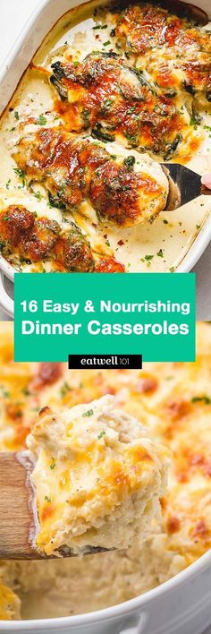 16 Easy Casserole Recipes for Dinner - Easy and nourishing - Perfect for when you are super busy and need something to make in a pinch. Sausage Recipes For Dinner, Breakfast Sausage Recipes, Dinner Casserole Recipes, Paleo Dinner, Easy Dinner Recipes, Tamale Casserole, Chicken Casserole, Eat Breakfast, Dinner Ideas