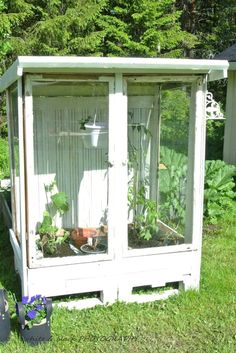 The 10 Best greenhouse ideas Window Greenhouse, Outdoor Greenhouse, Cheap Greenhouse, Backyard Greenhouse, Greenhouse Plans, Outdoor Gardens, Portable Greenhouse, Rustic Greenhouses, Cottage Garden Plan