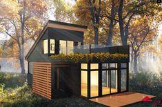 Tiny House - Maisonnette - Micro-loft - Les maisons Micro-Loft des Industries Bonneville : votre loft en pleine nature | Micasa