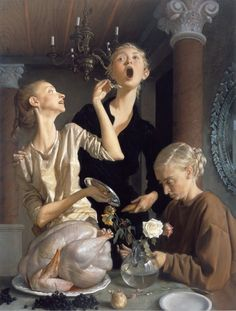 John Currin: Thanksgiving (2003). Oil on canvas. Lent by the American Fund for the Tate Gallery courtesy of MARC JACOBS, 2004. HAPPY THANKSGIVING!
