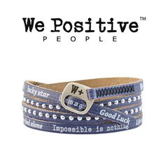Bracciale We Positive Blue Jeans Collezione Holiday Pelle HD015