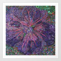 Art Print featuring Purple Flower by Juliana Kroscen Got Print, Purple Flowers, Flower Art, Design Trends, My Love, Originals, Prints, Artwork, Painting