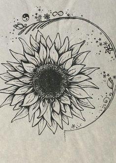 drawing art moon sun opposites sun and moon tattoo ideas cat. drawing art moon sun opposites sun and moon tattoo ideas catherineaf Sunflower Drawing, Sunflower Tattoos, Sunflower Tattoo Design, Hippie Tattoo, Bohemian Tattoo, Neue Tattoos, Body Art Tattoos, Circle Tattoos, Owl Tattoos