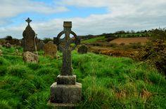 Las cruces celtas tan habituales en el paisaje irlandés.