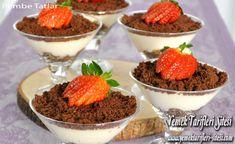 Bisküvili Kremalı Muhallebi Tarifi Vegan Biscuits, Custard Recipes, Chocolate Cake, Creme, Tart, Cheesecake, Food, Kitchen, Vegan Desserts