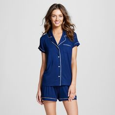 Women s Pajama Set Total Comfort Nighttime Blue L - Gilligan   O Malley™… I  have grey and pink pattern any other color works! ccf1e9b465af