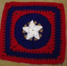 Star of Honor Afghan Square pattern by Shelley Moore ~ free pattern ~ Love this one.