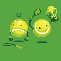 Cute and Clever Tennis Illustrations by Nathan W. Pyle