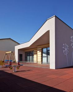 kindergarten in selo by minimart. SLOVENIA.