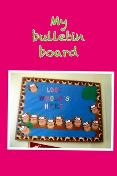 My Preschool bulletin board