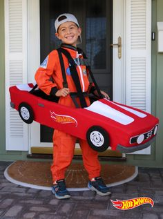 bring your kids racecar dreams to life with this diy car costume learn how here