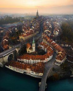 "Bern SWITZERLAND VACATIONS % (@switzerland.vacations): ""(: @emmett_sparling) Above Bern seen by @emmett_sparling #Switzerland_Vacations for a feature "" #CultureVacation"