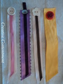Creatively Content: Simply w/ love ~DIY ribbon bookmarks