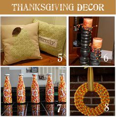 Check out these DIY Thanksgiving decor ideas - we love the left-over candy corn creations!