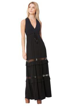 [Bella Crochet Maxi Dress] [Womens Dresses] [Hale Bob Dresses] - Hale Bob