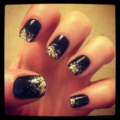 New Year's Eve nails! Rate It: 1-10 1 - I don't like it, I would NEVER do it! 10 - I just love it, I would TOTALLY do it! Tell us WHY you commented with your number!