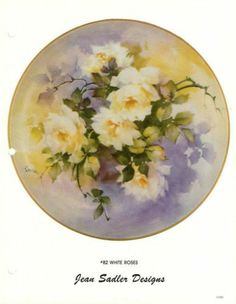 Jean Sadler China Painting Study 82 White Roses Instructions Pattern | eBay