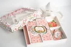 "Baby Girl Stationery Set by Michelle Zerull featuring the ""Baby Girl"" collection by Baby Girl Cards, Echo Park Paper, Baby Kit, Flip Cards, Stationery Set, Gift Tags, New Baby Products, Paper Crafts, Crafty"