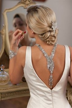 I like the back of the dress but I love the hair!