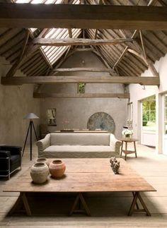 Tragaluz y techos de madera