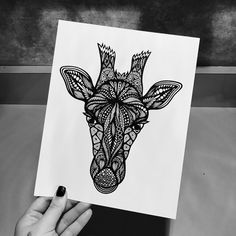 Zentangle Giraffe by ZenspireDesigns on Etsy