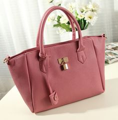 cheap designer bag 2015 new big shopping bag over shoulder lock fashion women…