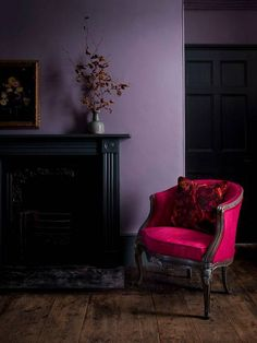 Trendy Living Room Paint With Dark Furniture Benjamin Moore 35 Ideas Purple Home, Dark Purple Rooms, Interior Design, Living Room Remodel, Living Room Paint, Deco Violet, Murs Violets, Color Of The Year 2017, Wall Colors