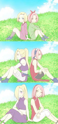Ino x Sakura Anime Naruto, Naruto Sasuke Sakura, Naruto Cute, Naruto Girls, Sakura Haruno, Kuroko, Ino Naruto Shippuden, Boruto Naruto Next Generations, Naruto Series