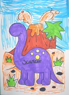 Wonderful drawing of a long-necked dinosaur by Scarlett.