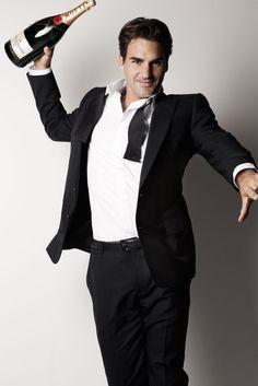 #Roger Federer - brand ambassador for #moet #tennis