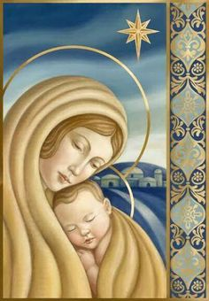This is what Christmastime is all about. Blessed Mother Mary, Divine Mother, Blessed Virgin Mary, Religious Images, Religious Icons, Religious Art, Real Image Of Jesus, Nativity Silhouette, Mama Mary