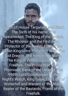 Aegon of House Targaryen and Stark, The Sixth of his name Aegon of House Targaryen and Stark, The Sixth of his name Aegon Targaryen - - - Jon Snow<br> Game Of Thrones Meme, Arte Game Of Thrones, Game Of Thrones Gifts, Trash To Couture, Jon Snow And Daenerys, Game Of Thones, King In The North, Got Memes, Iron Throne