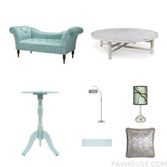 Home Decor With Tufted Couch, Accent Table, Wood Furniture And Giclee Glow Floor Lamp
