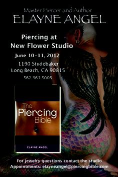 I'll be piercing in Long Beach at New Flower Studio on June 10-11. Contact me ASAP for an appointment!