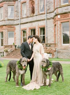 Kyla Gold Wedding Flower People Inspiration | Dog Style | Irish Inspired shoot complete with two adorable dogs