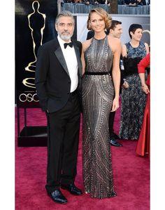 George Clooney e Stacy Keibler | Óscares 2013