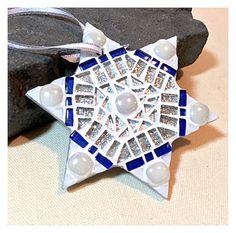 Star of David Hanukkah ornament Hanukkah by HamptonMosaics on Etsy